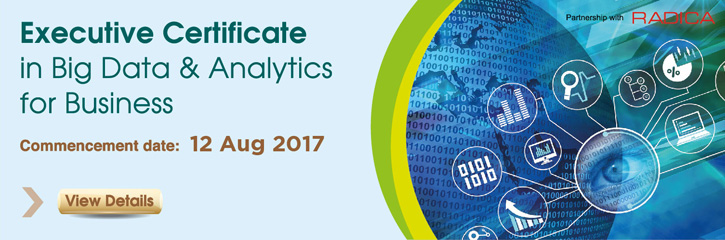 Executive Certificate in Big Data & Analytics for Business