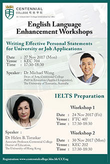 English Language Enhancement Workshops (For HKU SPACE CC Students)